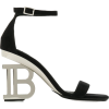 BALMAIN monogram heel 95mm sandals - Sandálias -
