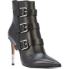 BALMAIN stiletto buckled ankle boots - Boots -