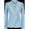 BALMAIN textured denim blazer - Jacket - coats -