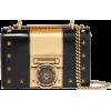 BALMAIN two-tone leather shoulder bag - Clutch bags -