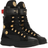 BALMAIN x PUMA Black leather high-top sn - Buty wysokie -