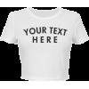 BASIC CROP TEE - T-shirts -