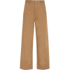 BASSIKE Cropped Cotton-blend Wide-leg - Spodnie Capri -
