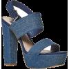 BATA Denim Platform Sandals - Sandals - 27.00€  ~ £23.89