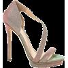 B Brian Atwood Cloth Heels - Sandalias -
