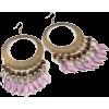 BEAD, BRASS DROP EARRINGS-PURP - Kolczyki - $17.00  ~ 14.60€