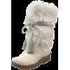 BEARPAW Women's Shako Fur Boot White - Boots - $149.99