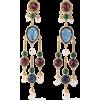 BEN-AMUN 24-karat gold-plated, stone and - Earrings -