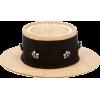 BENOIT MISSOLIN straw boater hat - Kapelusze -