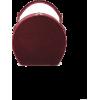 BERTONCINA bordeaux velvet round bag - Hand bag -