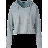 BEYOND light blue hoodie - Pullovers -
