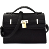 BLACK FAUX LOCK BELTED SATCHEL - Borsette - $62.00  ~ 53.25€