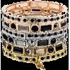 BLACK-Gold Tone Stretch - Bracelets - $29.99