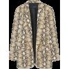 BLAZER MIT SCHLANGENPRINT - 西装 - 49.95€  ~ ¥389.67