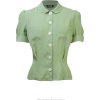 BLOOMSBURY green blouse - Camicie (corte) -