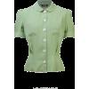 BLOOMSBURY green blouse - 半袖衫/女式衬衫 -