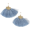BLUE FRINGE EARRINGS - Naušnice - $12.00  ~ 10.31€