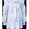 BLUGIRL floral print off shoulder top - Long sleeves shirts -