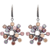 BOTTEGA VENETA  Crystal floral-drop earr - Earrings -
