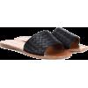BOTTEGA VENETA Intrecciato leather slide - Flats -