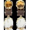 BOUNKIT 14-karat gold-plated quartz earr - Серьги -