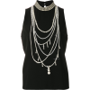 BOUTIQUE MOSCHINO pearl necklace print t - Tanks - $270.00