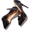 BOW T SATIN HEEL - Classic shoes & Pumps - $895.00