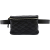 BOX SHAPED QUILTED BELT BAG-BK - Travel bags - $25.00