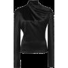 BRANDON MAXWELL draped neck silk blouse - Camicie (corte) -