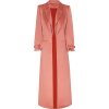 BRANDON MAXWELL pink satin trench coat - Jacket - coats -