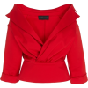 BRANDON MAXWELL red off shoulder jacket - Giacce e capotti -