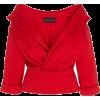BRANDON MAXWELL red off shoulder jacket - Куртки и пальто -