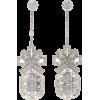 BRANDON MAXWELL silver drop earrings - Naušnice -