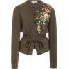 BROCK COLLECTION olive green embroidered - 开衫 -