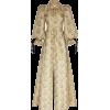 BROCK neutral floral printed bow coat - Jacket - coats -