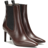 BRUNELLO CUCINELLI Leather and cashmere - Boots -
