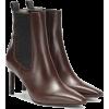 BRUNELLO CUCINELLI Leather and cashmere - ブーツ -