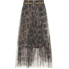 BRUNELLO CUCINELLI Printed tulle midi sk - Skirts -