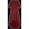 BRUSHED-BACK HI-LOW DRESS - Vestidos -