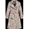 BURBERRY Scribble Check Tench Coat - Jacket - coats -