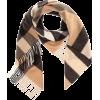 BURBERRY Check cashmere scarf - Cachecol -