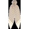 BURBERRY Logo silk-twill hair scarf - Scarf -