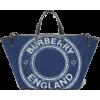 BURBERRY Mini Logo Graphic Denim Beach - Carteras -