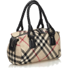BURBERRY Pre-Owned: Plaid Wool Shoulder - Hand bag -
