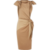 BURBERRY Tie Detail Tri-tone Silk Jersey - Vestidos -