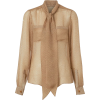 BURBERRY neutral tie blouse - Shirts -