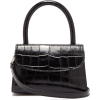 BY FAR Mini crocodile-embossed leather h - Hand bag -