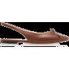 BY FAR brown slingback flat - Sapatilhas -