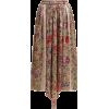 BY WALID  Margot floral-print silk midi - Skirts -