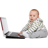 Baby with Laptop - People -